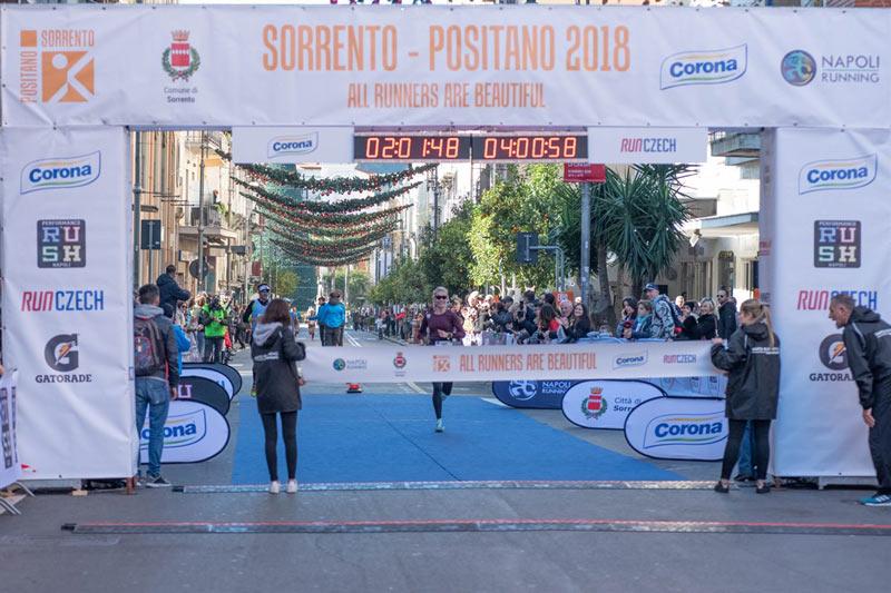 Arrivo maratona Sorrento Positano